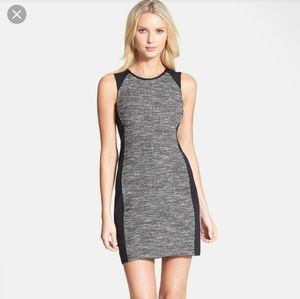 Sleeveless Colorblock Tweed Knit Dress large